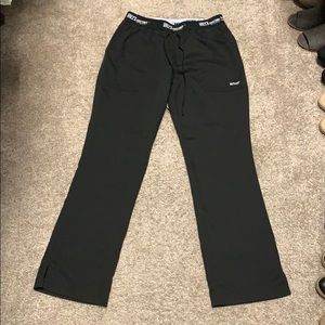 Grey's Anatomy black scrub pants. Small Petite